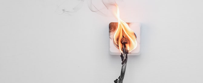 Electrical fire photo