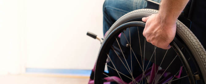 Man in wheelchair image