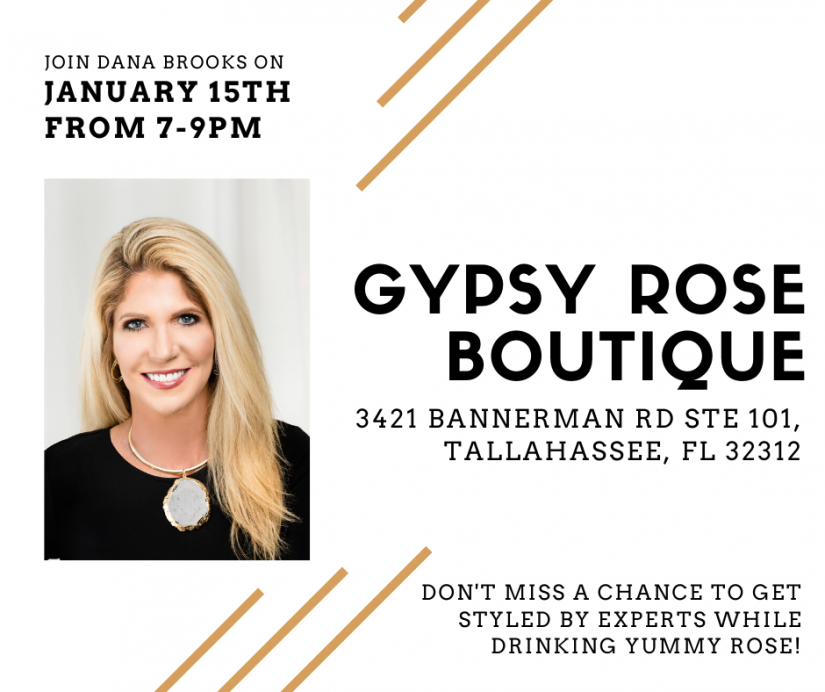 Gypsy Rose Boutique event poster
